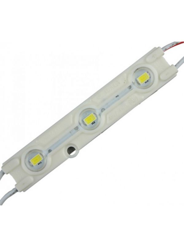 MODULO 3 LED SMD 5630 CON LENTI IP66 COOL