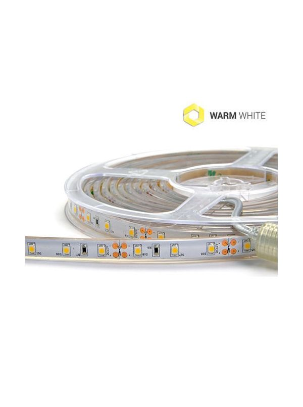 STRIP 3528 300 LED IP67 IMPERMEABILE WARM 12V