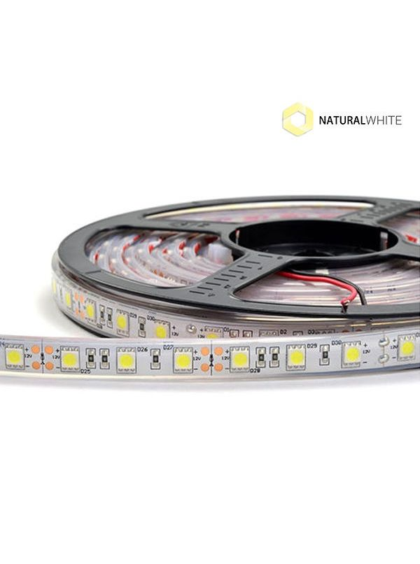 STRIP 5050 300 LED IMPERMEABILE IP67 NATURAL 12V